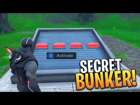 *NEW* SECRET UNDERGROUND BUNKER LOCATION AND HOW TO OPEN IT! - Fortnite: Battle Royale