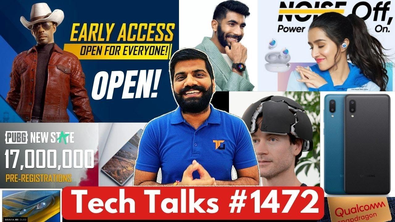 Tech Talks #1472 - BGMI Open For All & Ban Notice, Mi Mix 4, A02, Tab S7 FE, Smart Helmet, Buds Q2
