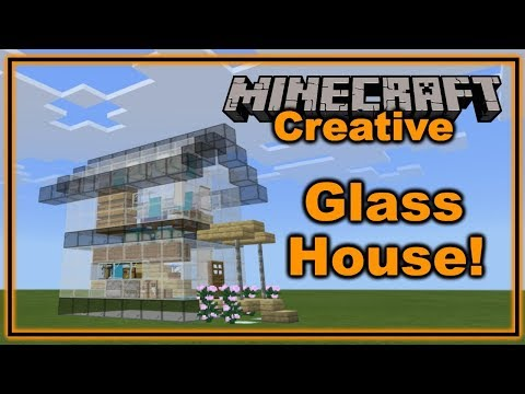 Building A Glass House In Minecraft Youtube