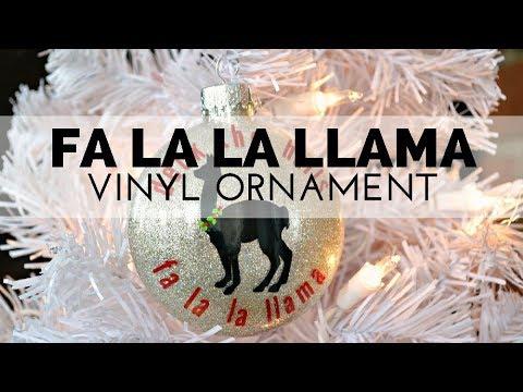 How to Make a Llama Christmas Ornament Using Vinyl