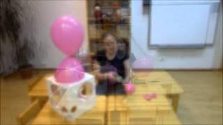Как сделать большой цветок из воздушных шариков