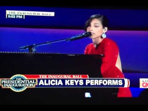 Alicia Keys performs  New Day and Obama's On Fire Live at The Inaugural Ball 2013 [HQ]