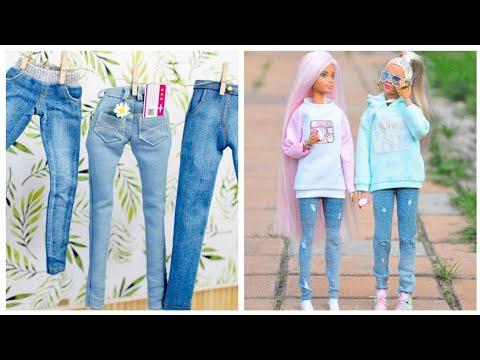 How to Make Barbie Clothes DIY Doll Dress Crafts ~ ropa de muñecas poupée vétement