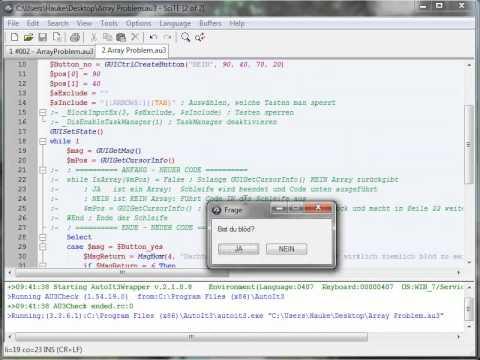 "AutoIt Tutorial #003 - Array-Error: ""Subscript used with non-Array variable"""