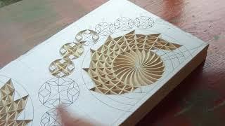 Геометрическая резьба по дереву. Урок 35 часть 2 (geometric wood carving)