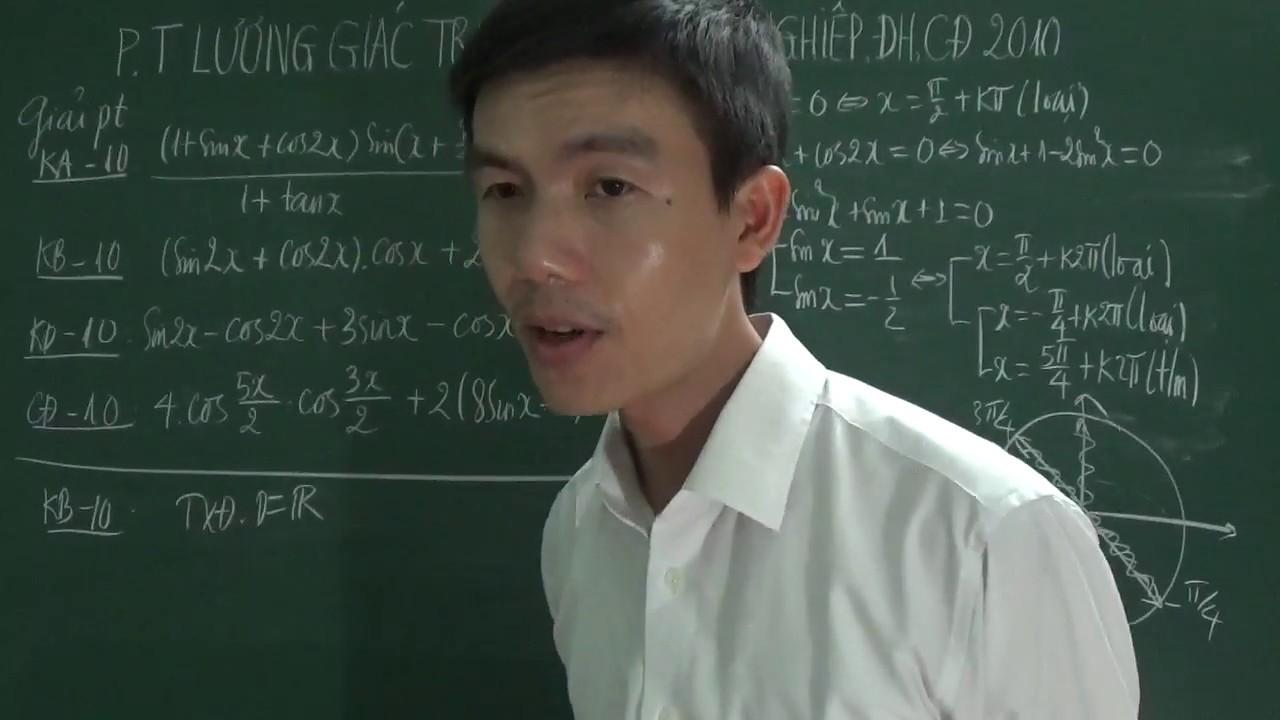 [Toán 11] – Phương trình lượng giác trong đề thi Đại học, Cao đẳng khối A, B, D năm 2010