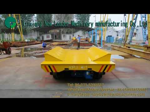 Heavy loading flat transportation railway cables trolley applied industry