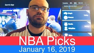 NBA Picks (1-16-19) | Basketball Sports Betting Expert Predictions | Vegas Odds | January 16, 2019