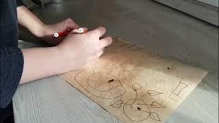 Изготовление старинной карты