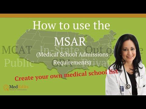 MSAR Medical School Admissions Requirements 2021 | MedEdits