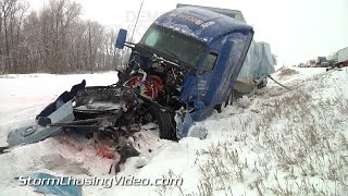 2/3/2015 Medford MN I35 Multiple Vehicle Pile Up