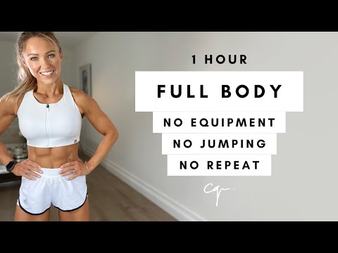 1 Hour FULL BODY WORKOUT at Home | No Jumping, No Equipment, No Repeat