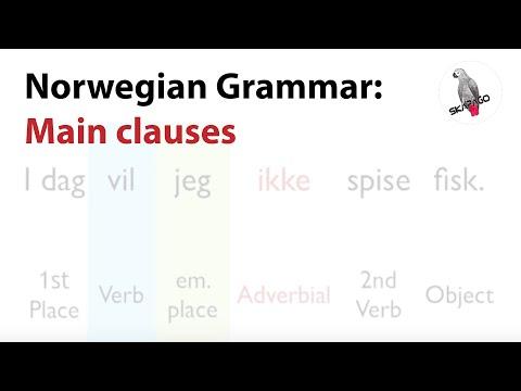 Norwegian Grammar: Main Clauses