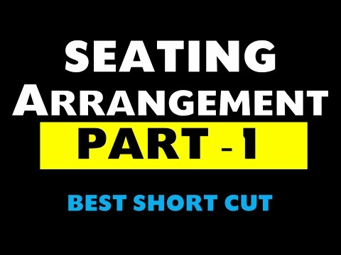 Seating arrangement Part -1 (Bank Po / SSC / NDA / CDS / CSAT / State PSC exams)