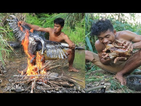 adventure in forest - Find Food delicious in the jungle -Cooking duck Eating delicious