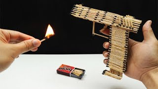 How to make Glock from matchsticks then Burn it - Experiment