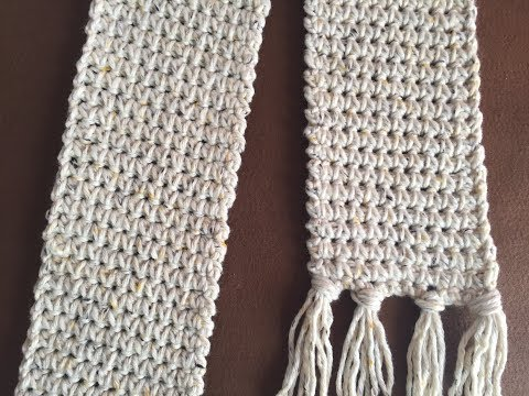 Crochet Scarf Tutorial 2018 | Crochet Shallow Stitch  | Beginner Crochet Stitch