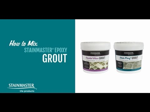 How To Mix Stainmaster Stain Proof Grout Crystal Gl And Use Shimmer Finishes