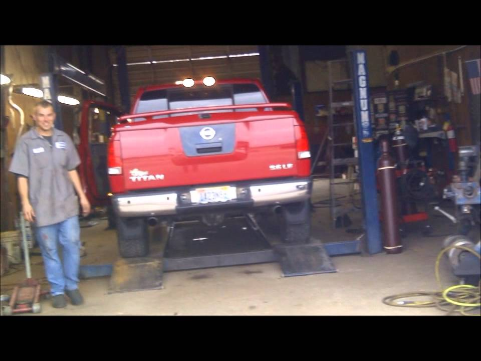 2005 Custom Nissan Titan New Straight Pipe Exhaust