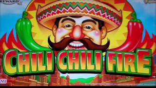 Chili Chili Fire Slot Machine Bonus $6 Bet Live Play 🙀🙀🙀  !!!! Konami Slot