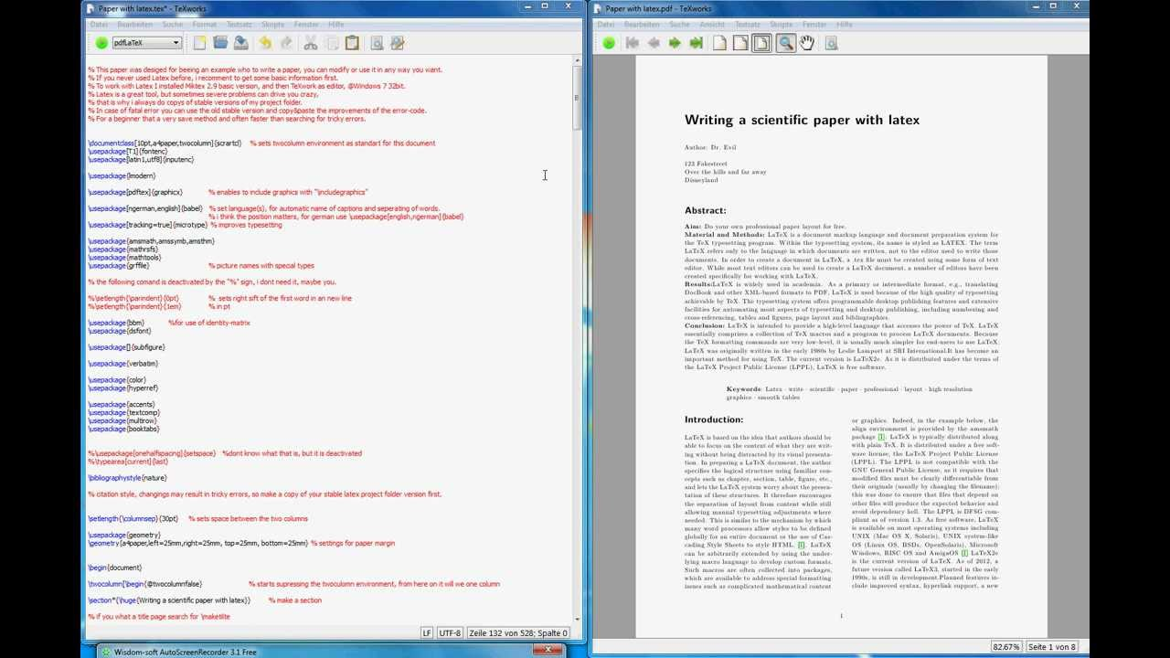 example Latex bibtex