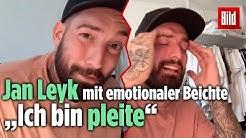 Jan Leyk ist pleite! Emotionale Beichte an seine Fans bei Instagram