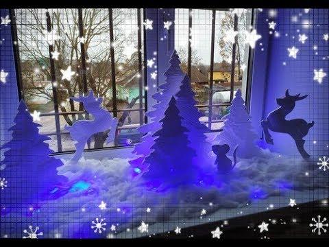 НОВОГОДНИЙ ДЕКОР ОКНА СВОИМИ РУКАМИ.DIY AlesyaGor.Christmas window decoration