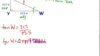 Trigonometry - Solving a Right Triangle Given Two Sides