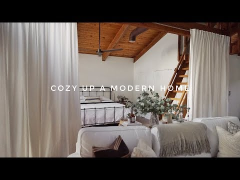 How To Cozy Up A Modern Home