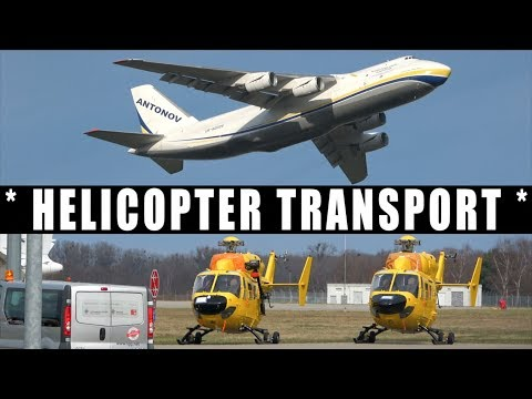 [4K] *Time Lapse *  AN-124 Helicopter Transport
