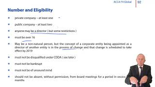 ACCA F4 Global - Company Law - Directors  - Statutory Duties