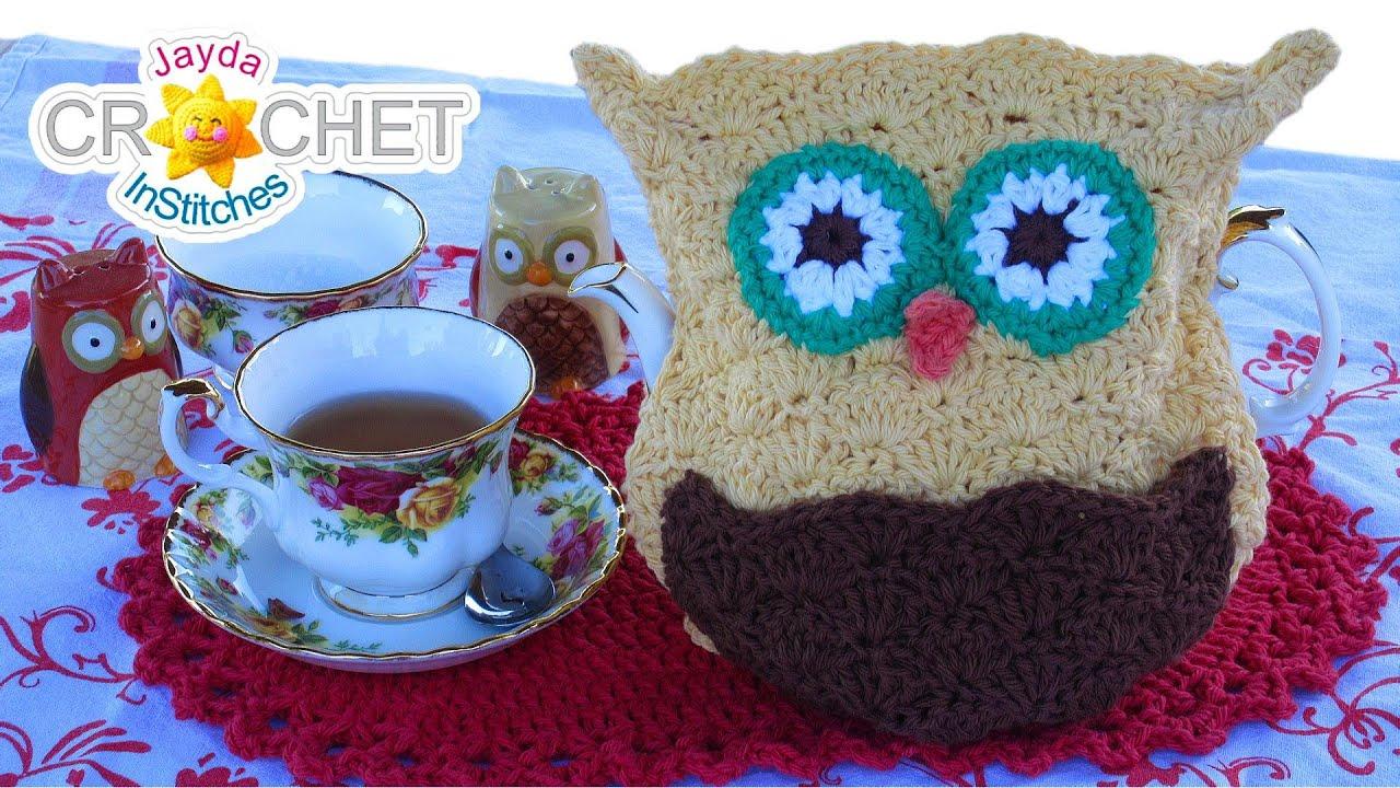 Owl Tea Cozy Crochet Pattern Learn The Scallop Stitch Youtube