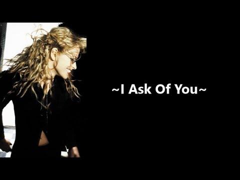 Anastacia - I Ask Of You [lyrics]