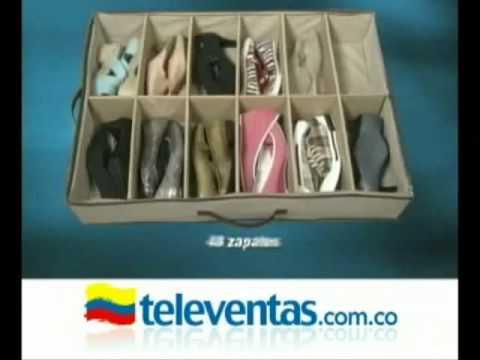 Video demostrativo organizador de zapatos bajo la cama www - Organizador de zapatos casero ...