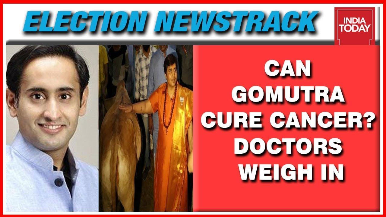 Can Cow Urine Cure Cancer? Sadhvi Pragya's Doctor Busts Claim | Election  Newstrack With Rahul Kanwal