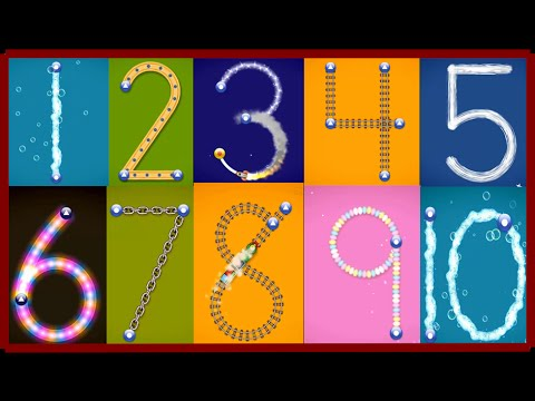 ✿★LetterSchool - Learn to write Letters and Numbers★✿ Numbers 1 to 10 Best app for kids