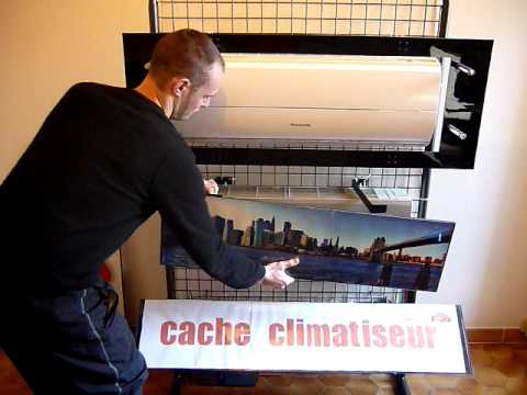 Deco design cache climatiseur youtube for Air climatiseur mural
