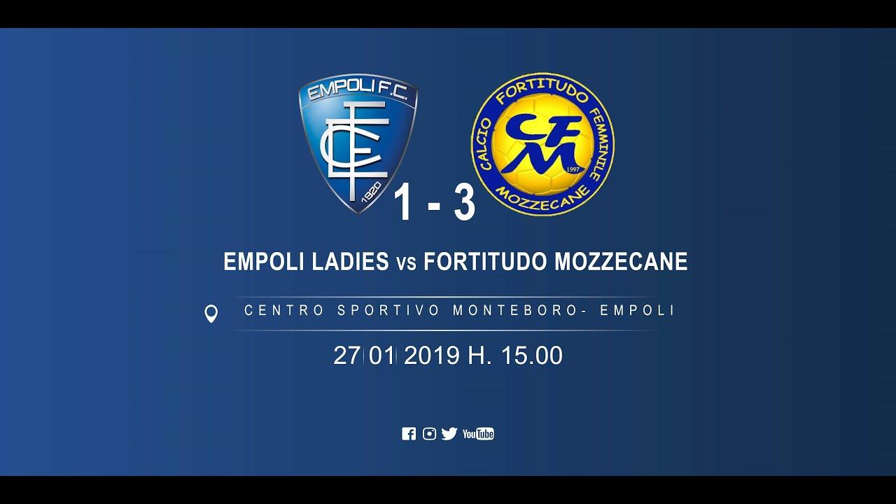 Empoli Ladies-Fortitudo Mozzecane 1 - 3