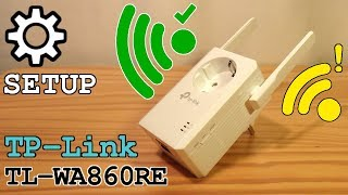 TP-Link TL-WA860RE Wi-Fi Extender • Unboxing Installation Configuration