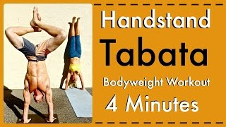 Improve your Handstand -Tabata 4 Minute Drill- Bodyweight Exercise