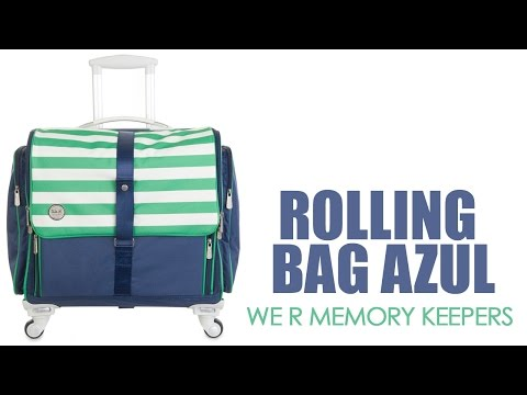 360 Crafters's Rolling Bag Azul Marino - We R Memory Keepers