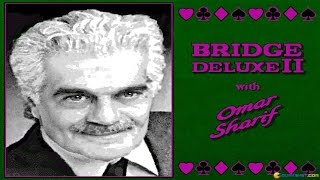 Bridge Deluxe 2 with Omar Sharif gameplay (PC Game, 1996)
