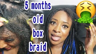 5 MONTHS OLD BOX BRAIDS TAKE OUT | TAKE OUT TIPS