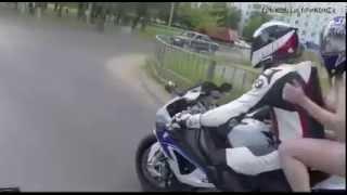 Приколы на дорогах  Девушка на мотоцикле в костюме Евы - Короче голая)) Угар! Funny girls Jokes
