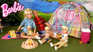 Barbie & Ken Family Camping Trip Routine - Outdoor Adventures