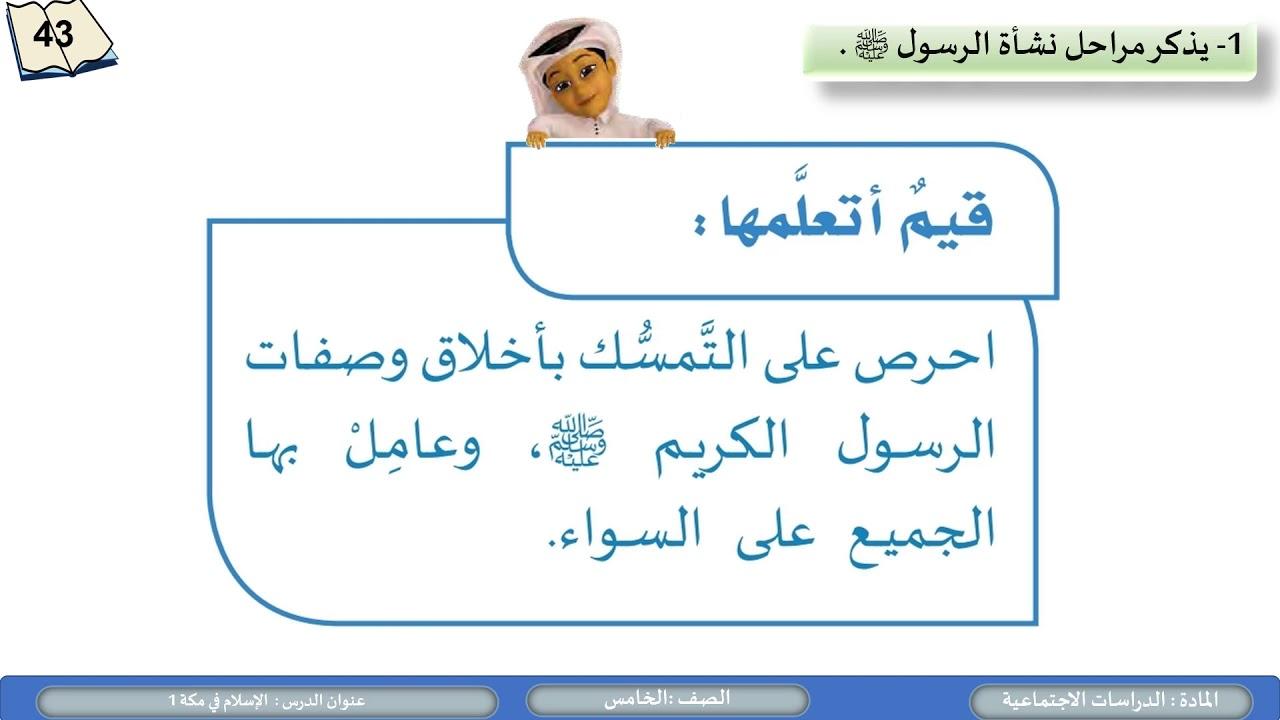 الصف الخامس   الدراسات الاجتماعية   الاسلام في مكة1 1