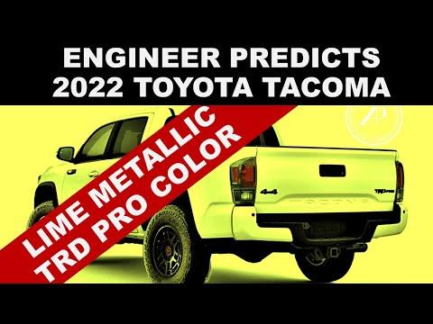 2022 TOYOTA TACOMA PREDICTIONS - Automotive Engineer Explains New Tacoma Teasers, Colors, Wheels