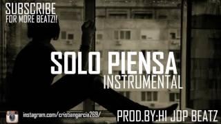 """(FREE)Hip Hop Guitar Instrumental Sad """"Solo Piensa"""" - Base de Rap Conciencia Triste USO LIBRE 2016"""
