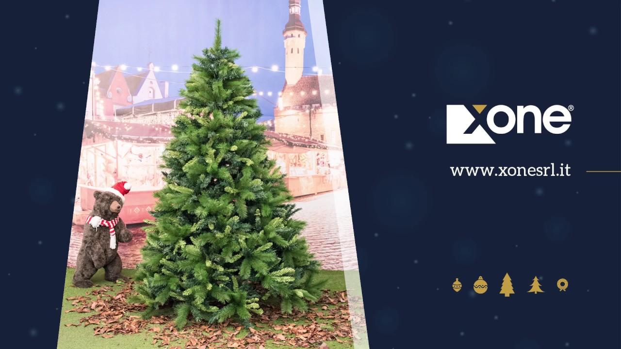 Albero Di Natale Xone.Albero Di Natale Xone Super Folto E Realistico Justin In Pp Pvc H 180 210 240 270 300 Cm Youtube