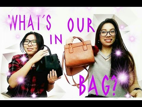 WHAT'S IN OUR BAG ? FEAT. MY SISTER ( Bahasa )